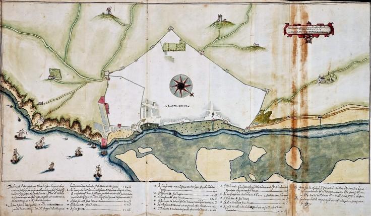 Planta de Lagos de 1621, de Alexandre Massai