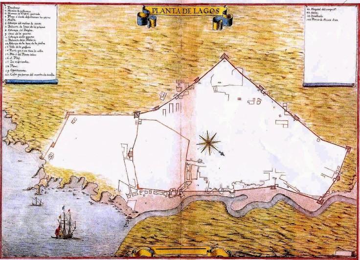 Planta de Lagos de 1650, de Leonardo Ferrari