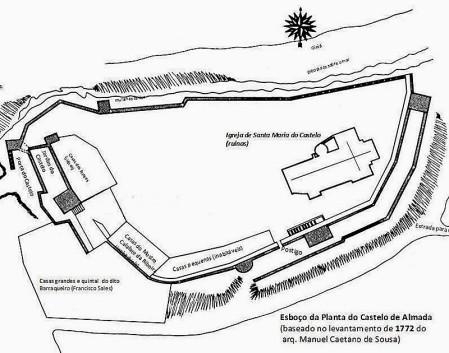 Almada 1772 Planta do castelo
