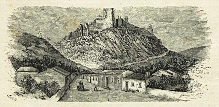 Grabado de Cazellas final siglo XIX
