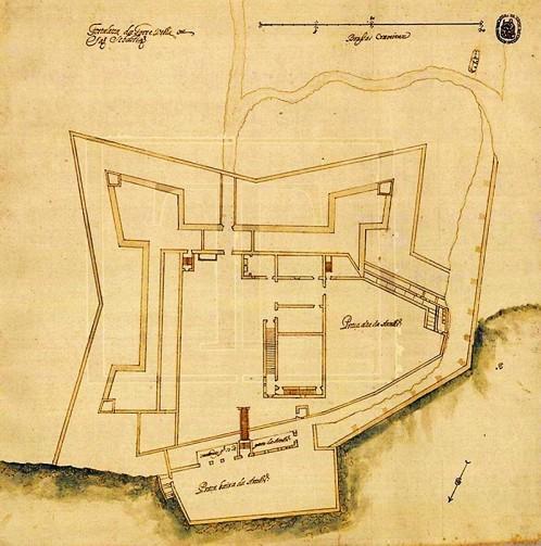 Planta da Torre Velha de Caparica, Mateus do Couto, 1692