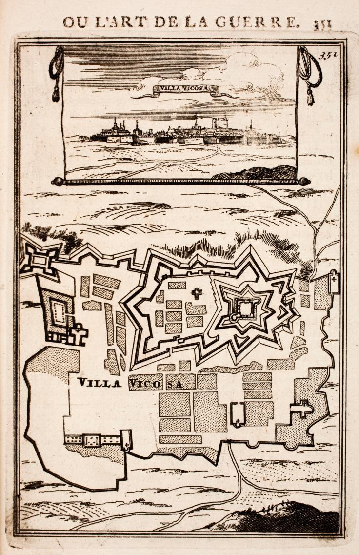 Vila Viçosa Gravura, Alain Manesson Mallet 1696