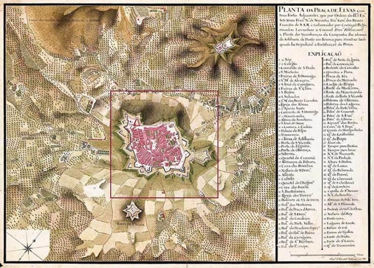 Plan Elvas y fuertes anexos