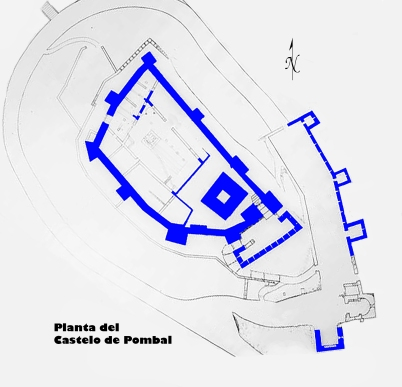 Planta castelo de Pombal