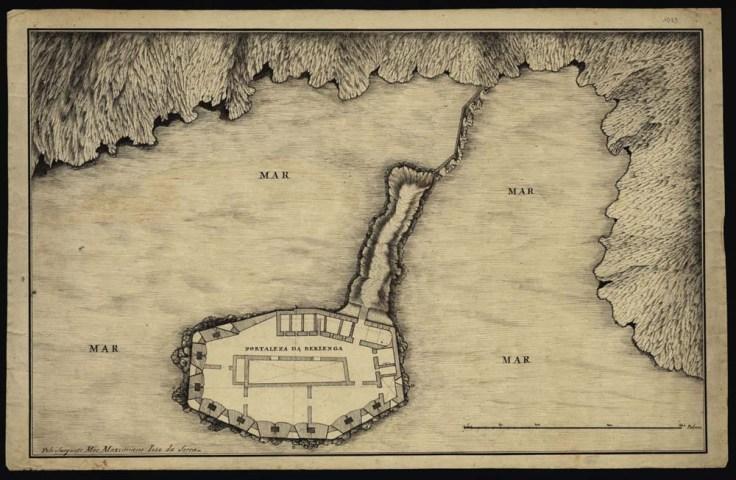 Planta Fortaleza Berlenga Maximiano José da Serra 1796