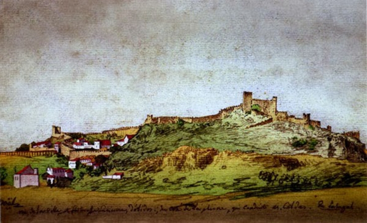 Dibujo de Óbidos de Alexandre-Jean Noël, 1780