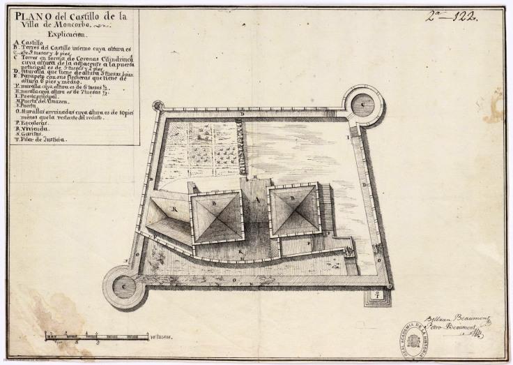 Desenho a tinta da China por Beltrán Beaumont e Pedro Beaumont, 1762