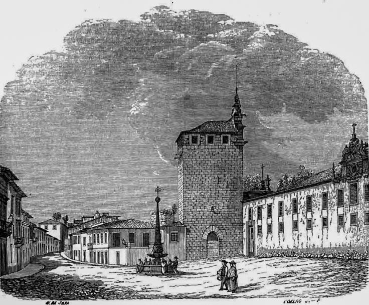 Braga 1864 Gravura de Nogueira da Silva & Coelho