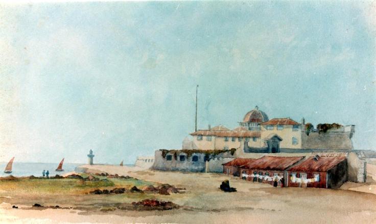 Castelo de S. João da Foz. Aguarela de Isabel Reid