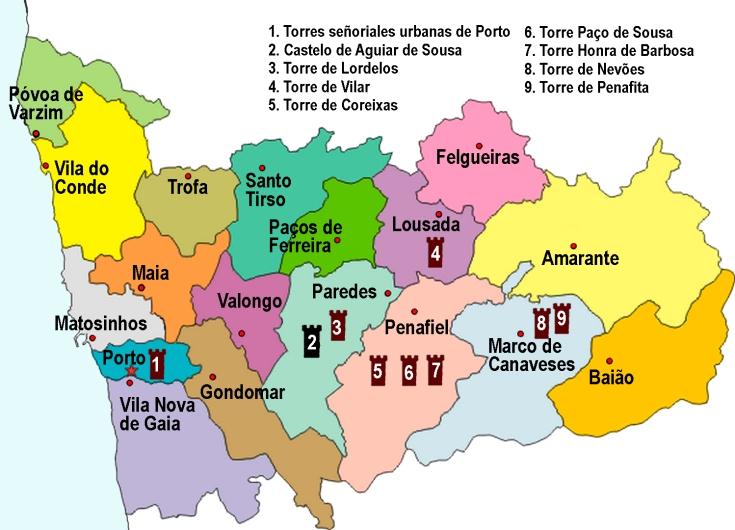 Mapa distrito Porto