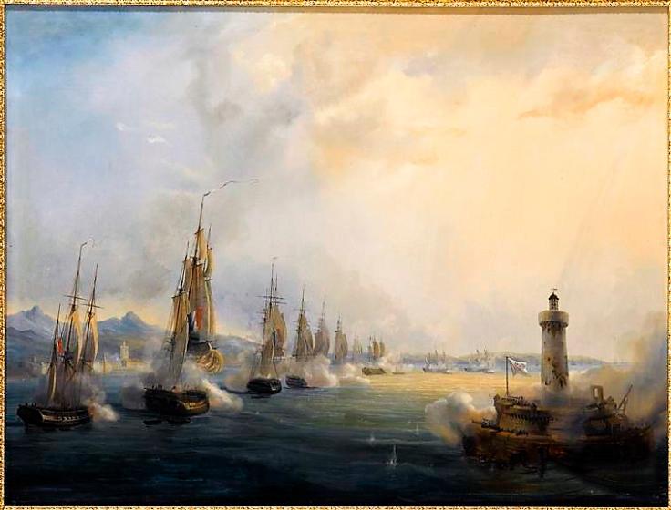 entrada da armada francesa no rio tejo 1831