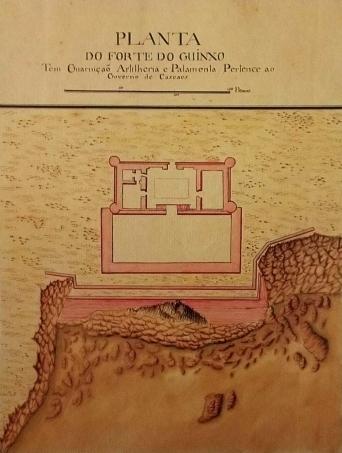 forte do guinxo, desenho aguarelado, joão da mata chapuzet, 1798-3