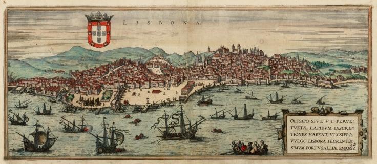 lisboa 1572 georg braun & frans hogenberg