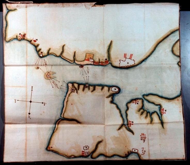 planta do rio da cidade de lisboa, felippe tersio. 1607