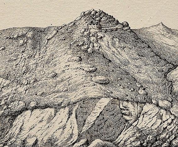 Forte da Roca en Grabado mediados siglo XIX