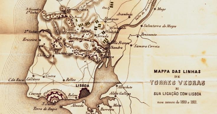 Mappa linhas Torres Vedras 1810-1811