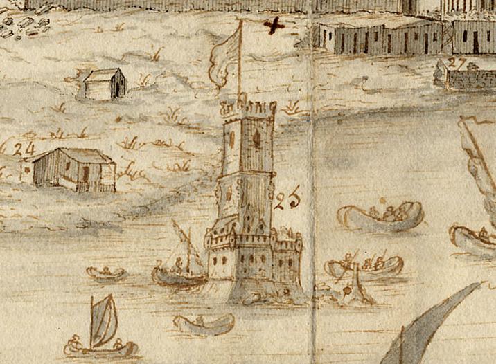 Vista e perspectiva da Barra, Costa e Cidade de Lisboa bernardo de caula 1763