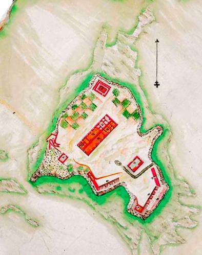 Castillo de Santa Cruz. Plano de Francisco de Gaver. 1792