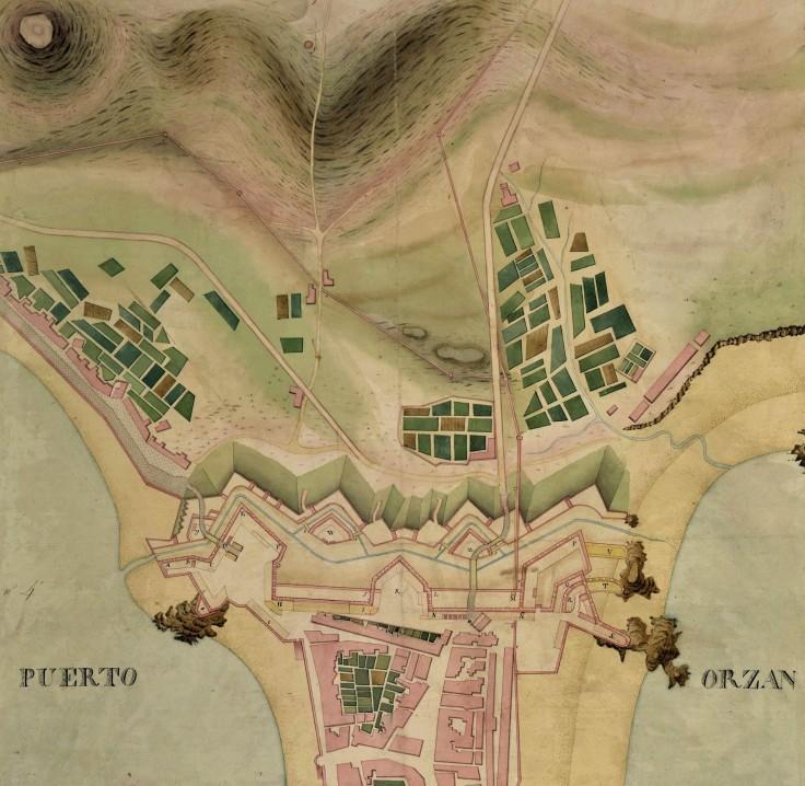 Plano de la fortificacion del frente de tierra 1810