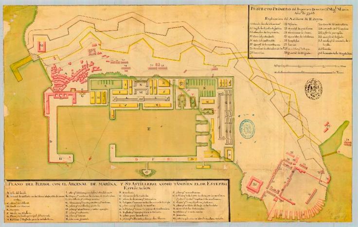 Plano del Arseñal Miguel Marin 1753